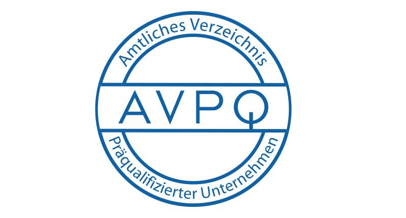 AVPQ Amtliches Verzeichnis Präqualifizierter Unternehmen
